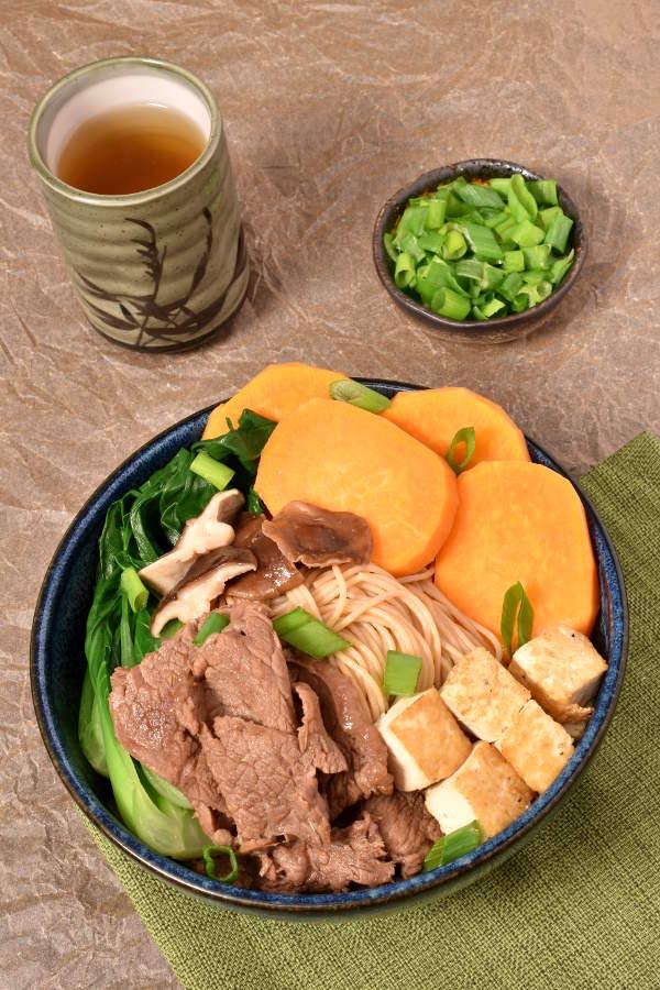 Beef Sukiyaki with Pan Fried Tofu   WednesdayNightCafe.com