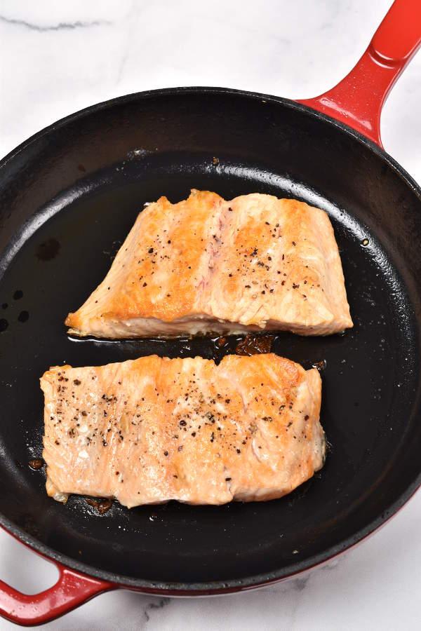 Salmon with Passion Fruit Sauce | WednesdayNightCafe.com