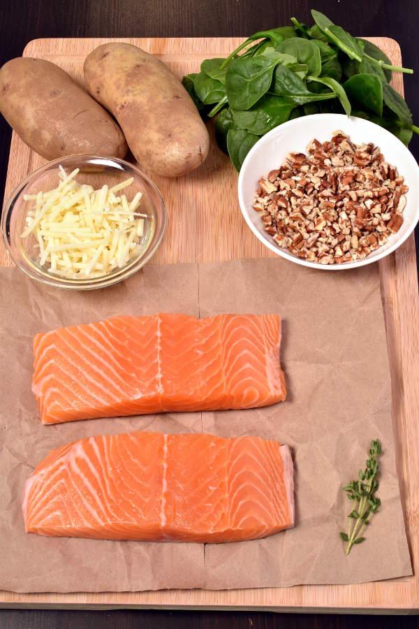 Maple Pecan Salmon with Individual Potato Gratins  WednesdayNightCafe.com
