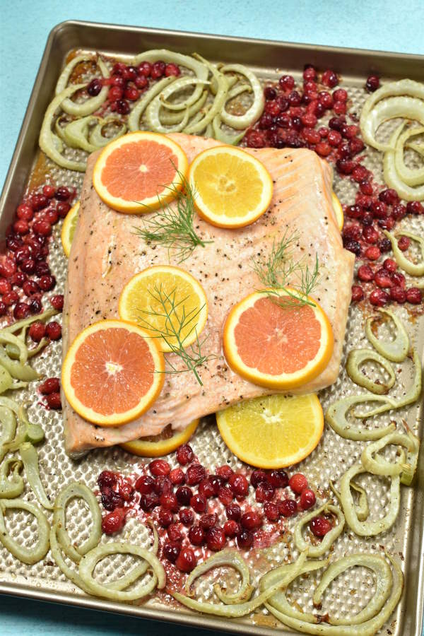 Roast Salmon with Fennel| WednesdayNightCafe.com