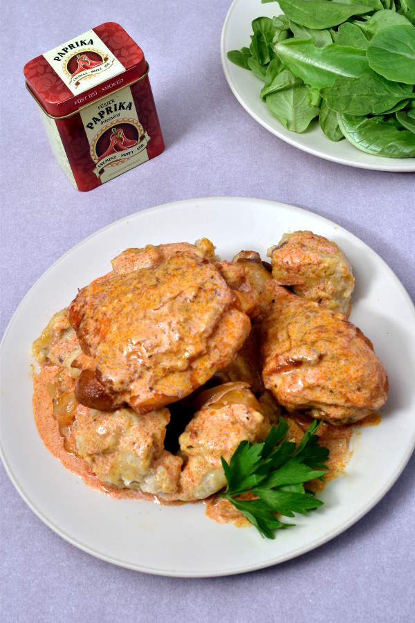 Chicken Paprikash with Dumplings | WednesdayNightCafe.com