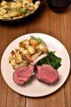 Roast Rack of Lamb with Rosemary Fried Potatoes   WednesdayNightCafe.com
