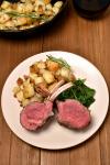 Roast Rack of Lamb with Rosemary Fried Potatoes | WednesdayNightCafe.com