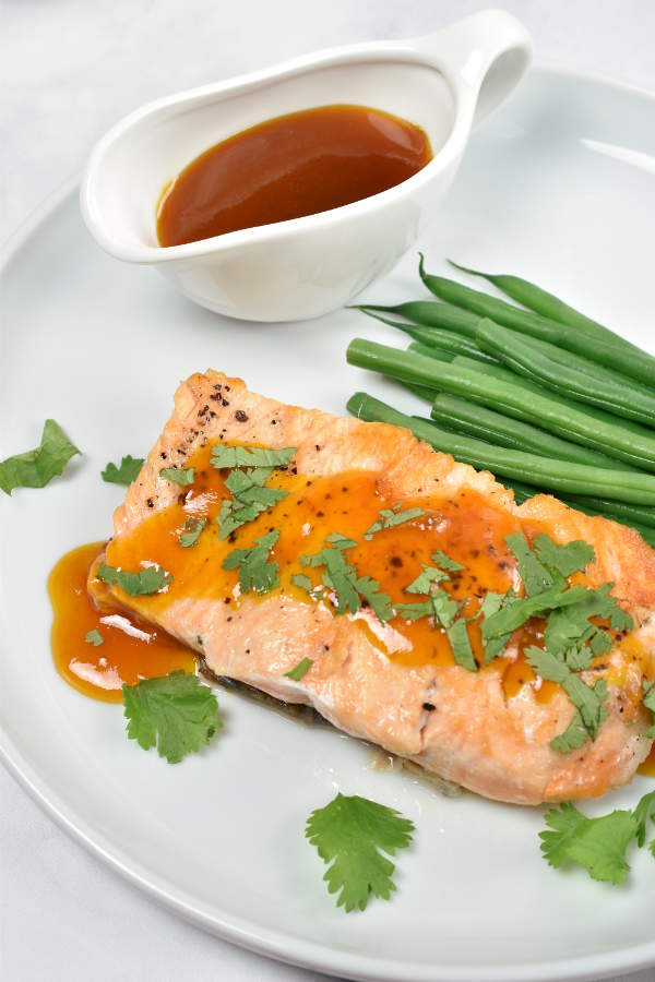 Salmon with Passion Fruit Sauce | WednesdayNightCafe.com