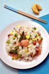 Smoked Salmon and Asparagus Fried Rice  WednesdayNightCafe.com
