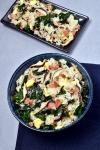 Bacon Mushroom Kale Fried Rice | WednesdayNightCafe.com