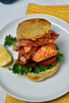 Salmon BLTs with Herb Sauce | WednesdayNightCafe.com