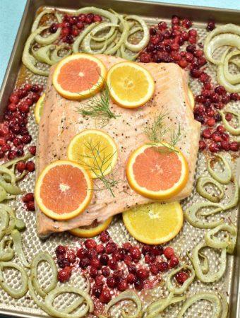 Roast Salmon with Fennel| WednesdayNightCafe.com
