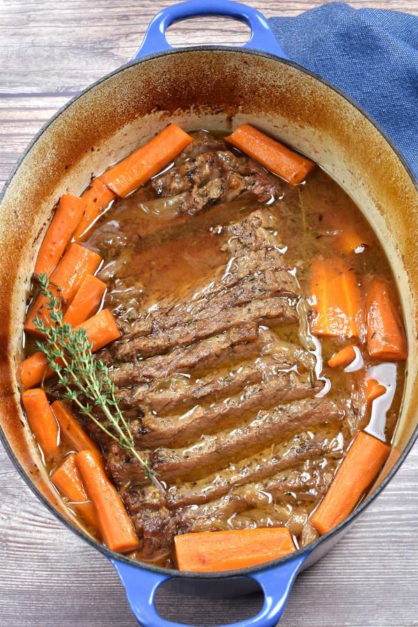 Braised Beef Brisket | WednesdayNightCafe.com